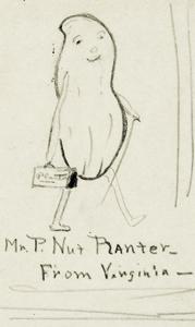 One of the original drawings of Mr. Peanut by Antonio Gentile.