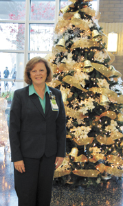 Barbara Lynch, Bon Secours' vice president for ambulatory services, has personally invited the community to a tree-lighting event at Harbour View Health Center Sunday.