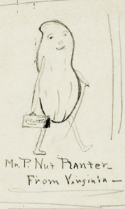 One of the original Mr. Peanut drawings by Antonio Gentile. (Courtesy Robert Slade)