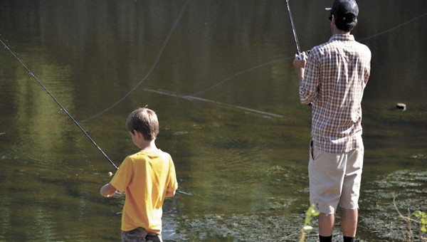 Keaton Owens, left, and Nick LaCascio participate in the 2013 Thomas J. O'Connor IV Memorial Fishing Tournament. This year's event will be held from 8 a.m. to noon on June 21 at Johnson's Gardens on 3201 Holland Road.
