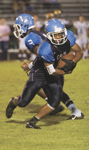 Lakeland High School senior running back Jordan Stokley proved to be too much for visiting Great Bridge High School on Friday night. He had touchdown runs of 80 and 22 yards, the latter of which proved to be the game-winner. The Cavs improved to 1-1 with the 33-27 victory.