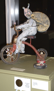 """The mixed-media work """"S. Car-go"""" by John Tobin, which won the award sponsored by the Suffolk News-Herald."""