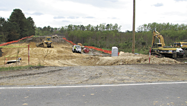 Construction crews have recently started work on the future site of the Foxfield Meadows development. Bill Darden of Hearndon construction said about 128 homes are planned, with a few more at the back of the neighboring Westhaven Lakes neighborhood.
