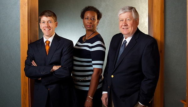 From left, Stephen Korving, Ella Bourne and Arie Korving are the three employees at Korving and Company, the Hampton Roads Chamber of Commerce's Suffolk Small Business of the Year. (Submitted Photo)