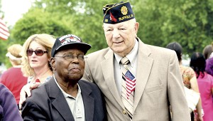 """Former U.S. Army Cpl. Jimmie Morgan, left, and Sgt. Robert """"Jack"""" Ewald are the only World War II veterans at Monday's Memorial Day ceremony at the Albert G. Horton Jr. Memorial Veterans Cemetery."""