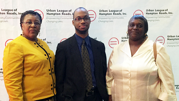 Massimo Zanetti Beverage USA received the 26th annual 2016 Whitney M. Young, Jr. Award, given by the Urban League of Hampton Roads in May. Attending on behalf of the company were, from left, Sharon Waters, production scheduler; Donte Boone, processing supervisor; and Monica White, warehouse clerk. Boone was recently promoted to his new position, having started at Massimo Zanetti as a contracted employee and working his way up to processing supervisor. (Submitted Photo)