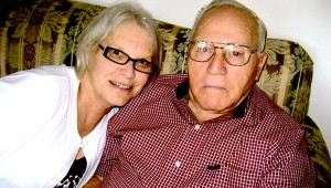Alice Beaton and her father, Richard Forrester Sr., who has been battling Alzheimer's for 10 years. (Submitted Photo)