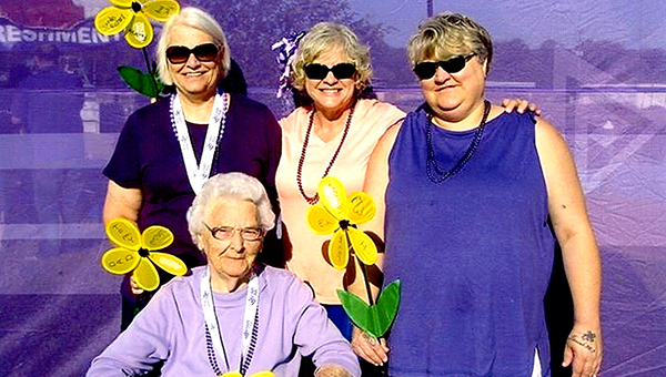 Sisters Alice Beaton and Holly Forrester, with their mother, Alice Forrester, and cousin, Arie Lea Throne, participated in last year's Walk to End Alzheimer's. (Submitted Photo)