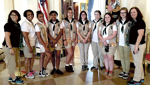 Girl Scout Ambassador Troop 431 visited the White House on June 4. (Submitted Photo)
