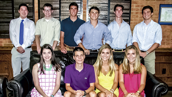 Nansemond-Suffolk Academy's class of 2016 features seven Eagle Scouts and two sets of twins, quite the accomplishment for a class of only 77. Seated, from left, are the twins, Mercer and Mitchell Hartman (Mitchell is also an Eagle Scout) and Chrisy and Julia Hayden. Standing are the other six Eagle Scouts, from left, Zie Medrano, Sam Towler, David Forman, Bowman Browne, Michael Hughes and Connor King.