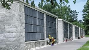 One of the existing columbarium buildings at Albert G. Horton Jr. Memorial Veterans Cemetery.