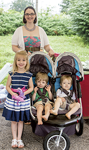 Kristy Lovingood with her children, from left, Abigail, Grayson and Parker, were ambassadors at the Suffolk HeartChase last weekend supporting the American Heart Association. Parker was born with multiple congenital heart defects and has had two open-heart surgeries. (R.E. Spears III/Suffolk News-Herald)
