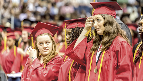 Students from Lakeland, King's Fork  and Nansemond River high schools — 967 of them in total — walked across the stage in three different commencement ceremonies at the Ted Constant Convocation Center on the campus of Old Dominion University on Saturday, giving Suffolk Public Schools its latest crop of high school graduates.