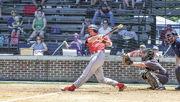 Matt Holt swings during a Nansemond River game earlier this season. Holt was one of four players selected to first team all-PenSouth Conference from Nansemond River.