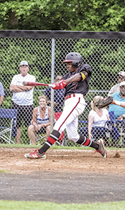 Wil Davis swings at bat as the Nansemond River High School baseball team beats Indian River High School 5-1 to advance to the tournament finals. (Wil Davis photography)