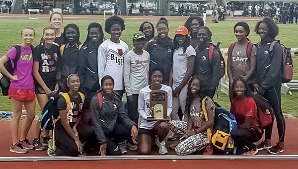 the Nansemond River High School girls' track team broke numerous state records and pulled in several first-place finishes in the 5A state championship last weekend. (Mary Ann Magnant photo)