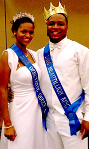 Adriana Johnson and JaQuan Yulee were named queen and king of the event.