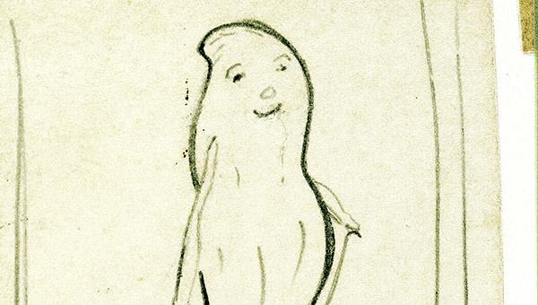 One of Gentile's original drawings. (Courtesy of Robert Slade)